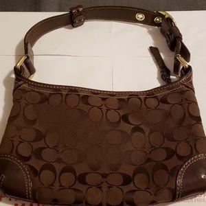 Like new coach signature C  small brown hobo bag